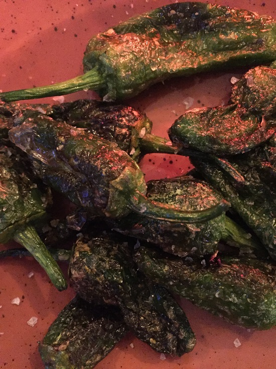 Padron Peppers done specially for me with sea salt