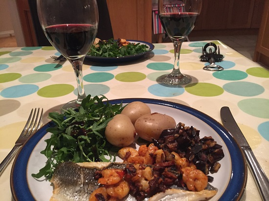 Totally freefrom Seared seabass, cooked by my lovely friend