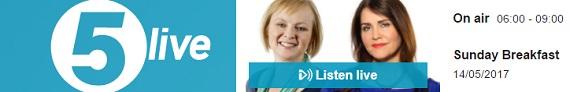 Super Pollen and Thunder Fever on Radio 5 Live