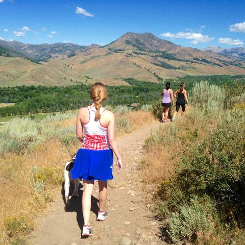 A hike in Sun Valley