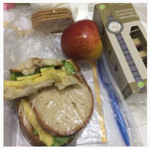 Most importantly, take a packed lunch (Courtesy of Warburtons GF, Violife, Lazy Days and Nairns)
